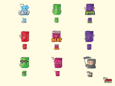 Juice Twitch Emotes emoticon cute blue lemon green heart love grape apple rekt salty hype