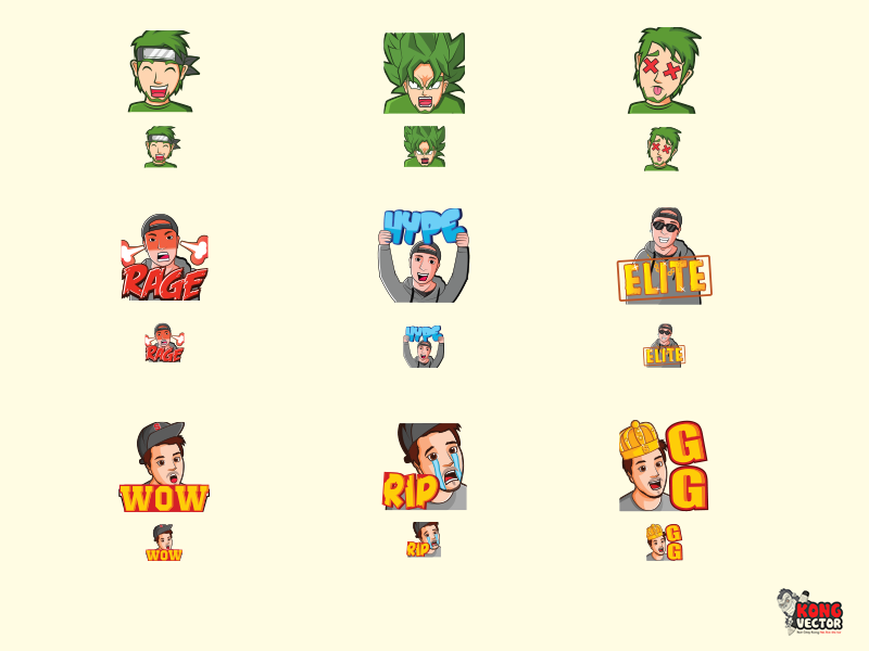 Boys Twitch Emotes by Kong Vector on Dribbble