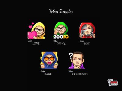 Men Twitch Emotes