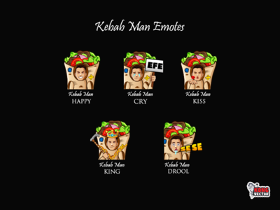 Kebab Man Twitch Emotes