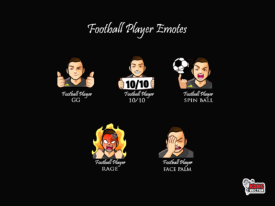 Football Player Twitch Emotes