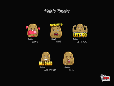 Potato Twitch Emotes
