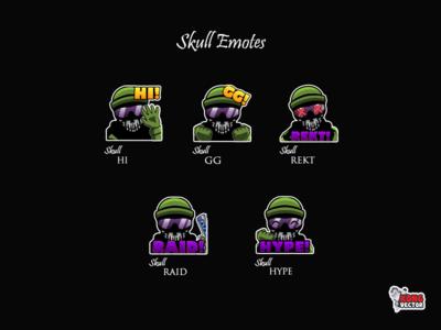 Skull Twitch Emotes