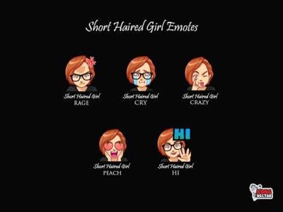 Short Haired Girl Emotes