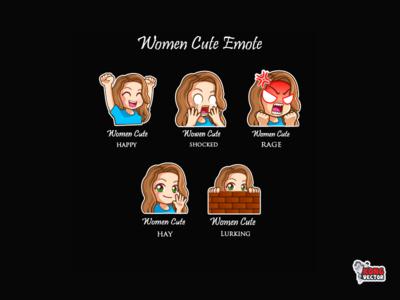 Women cute twitch emote