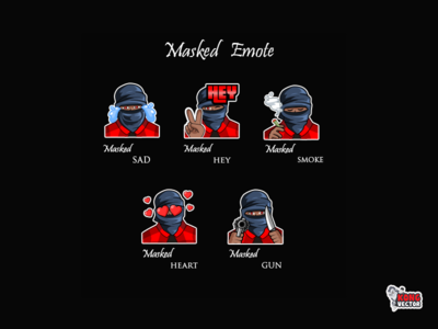 Masked Twitch emote
