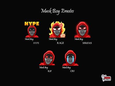 Mask Boy Twitch Emote