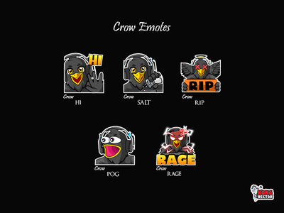 Crow Twitch Emotes