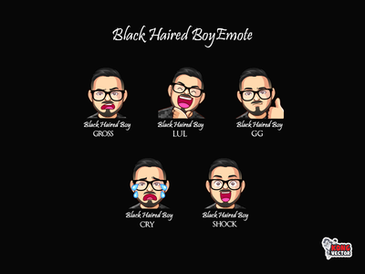 Black Haired Twitch Emote