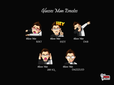 Glasses Man Twitch Emote