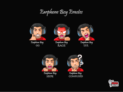 Earphone Twitch Emote