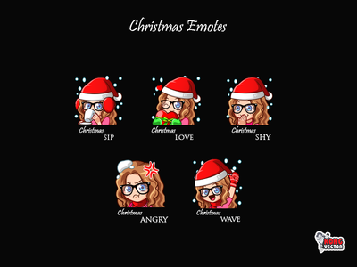 Christmas Twitch Emotes