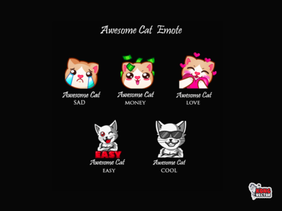 Awesome Cat Twitch Emote