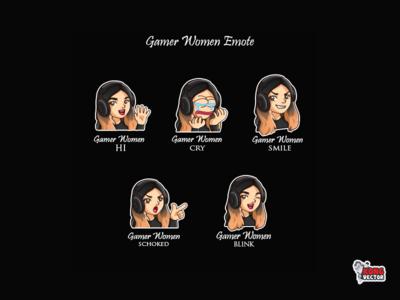 Gamer Women Twitch Emote