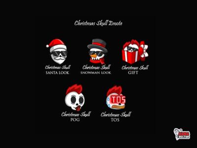 Christmas Skull Twitch Emote