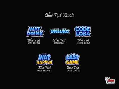 Blue Text Twitch Emote