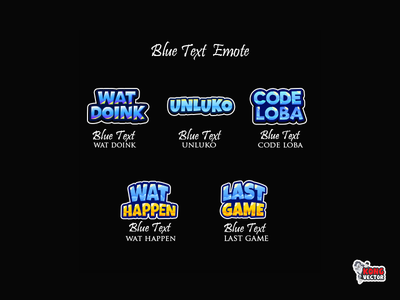Blue Text Twitch Emote texture blue cartoon last game wat happen code loba unluko wat doink graphicforstream streamers emoji sticker customemote emoteart design emotes emote twitch twitchemote twitchemotes