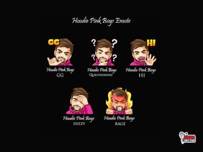 Hoodie Pink Boys Twitch Emote