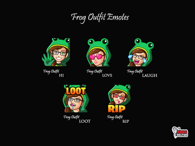 Frog Outfit Twitch Emotes