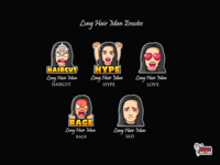 Long Hair Man Twitch Emotes