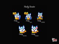 Husky Twitch Emote