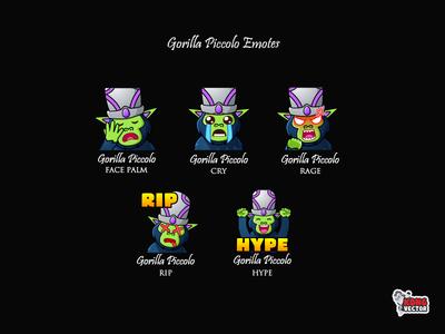 Gorilla Piccolo Twitch Emotes