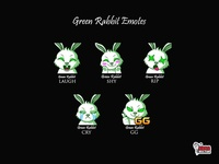 Green Rabbit Twitch Emotes