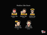 Handsome Man Twitch Emote