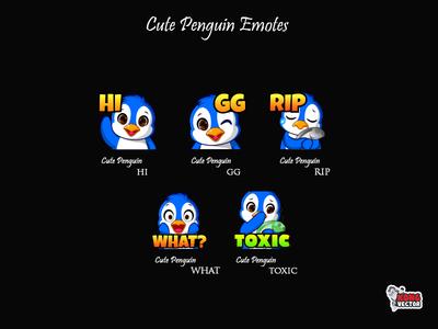 Cute Penguin Twitch Emotes