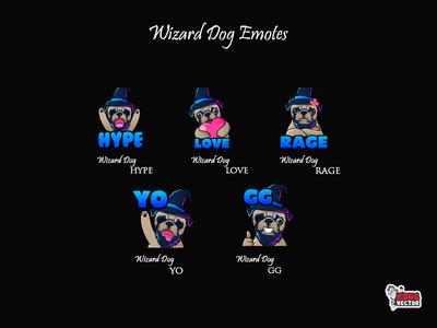 Wizard Dog Twitch Emote