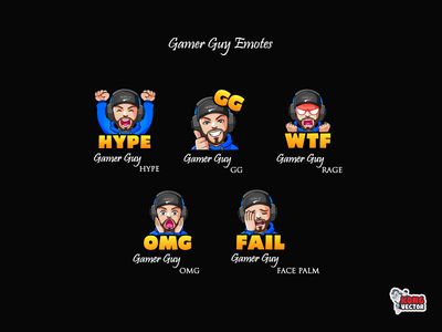 Gamer Guy Twitch Emotes
