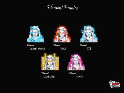 Element Twitch Emotes