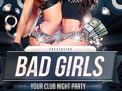 Bad Girls Party PSD Flyer