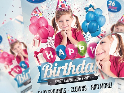 Kids birthday psd invitation party flyer by jellygraphics dribbble stopboris Choice Image