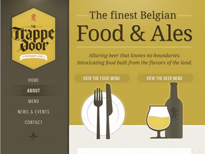Trappe Door home page coming together web illustrations beer menu vertical belgian
