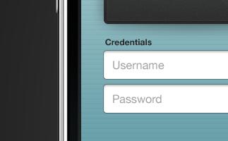 iPhone Login iphone login form