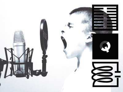 Mic. Quality. Circuit. brand audio monograms logo