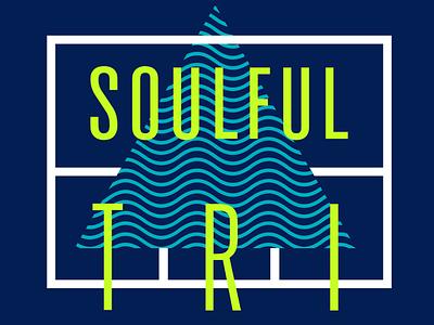 Soulful Tri Tshirt Design soul yoga waves triangle condensed lockup tshirt
