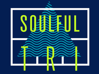 Soulful Tri Tshirt Design soul yoga waves triangle condensed lockup tshirt