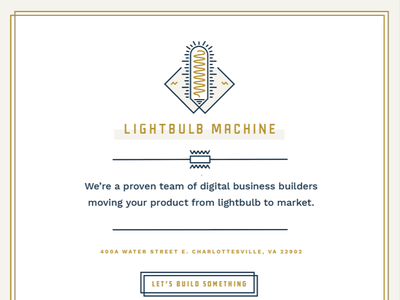 Lightbulb Machine midcentury timeless 40s retro lightbulb color line