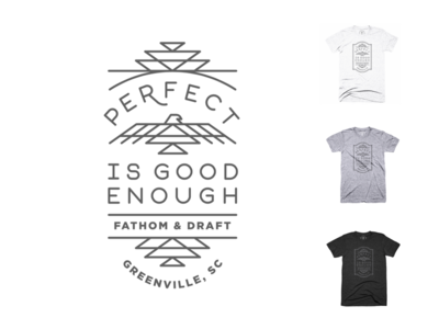 Perfect is good enough tee shirt greenville sale clothing tee tribal southwest icons lines perfection design tshirt