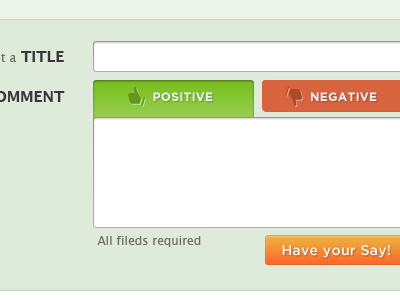 Web Review Form tabs forms colors thumbs icons