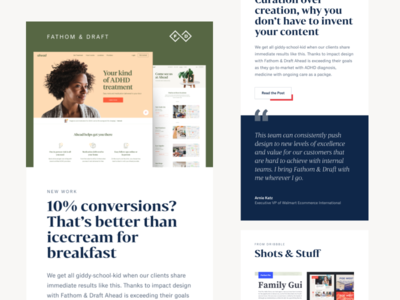 Getting the news out ui design green marketing layout typography email design email newsletter