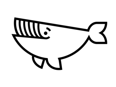 Working on whale character design animal lineart icon wip personal logo whale