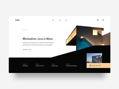 Sølv. Design Blog typography grid architecture ui web minimal
