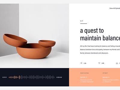 Design Podcast Concept web concept minimalism ui ux web design podcast