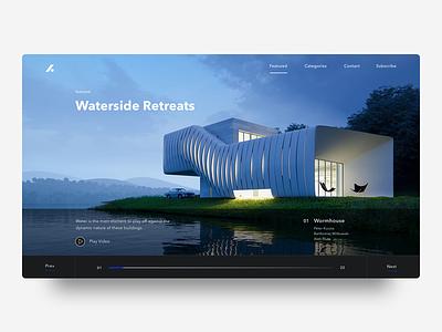 Architecture Blog web blog minimalism ui ux architecture web design