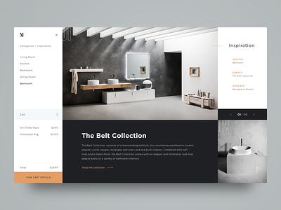 M. Interior Design Shop dailyui e-shop shopping cart e-commerce shopping modern minimalism interior design grid inspiration ui ux web