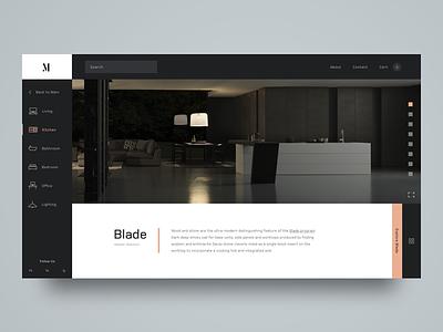 M. Interior Design architecture web design ux ui grid interior design minimalism modern shopping e-commerce icons clean