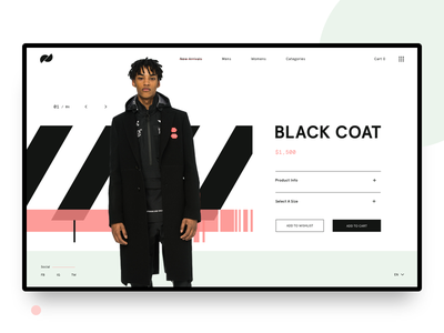 Offset // Product Page daily ui dailyui luxury clean e-shop shopping modern fashion grid ui ux web design lookbook interface